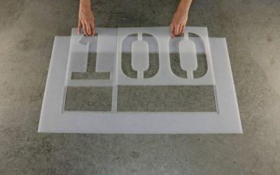 Découpe de polyester : PaperOne séduit Stencil Ease, fabricant de pochoirs